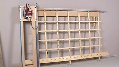 shop built panel saw